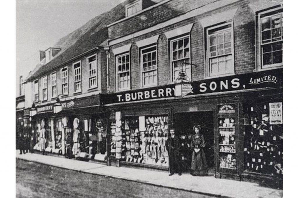 Prvý obchod Burberry